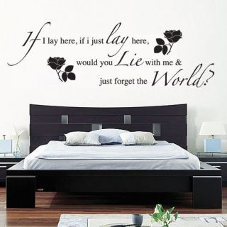 IF I LAY HERE SNOW PATROL Wall Art Sticker, Decal, MUSIC WORDS QUOTES