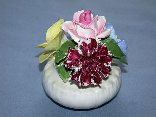 Staffordshire England Hand Made Bone China Flower Bouquet Figurine