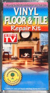 new liquid leather vinyl floor tile repair kit simply as seen on tv