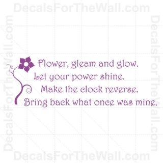 Tangled Rapunzel Disney Flower Gleam and Glow Vinyl Wall Decal Art