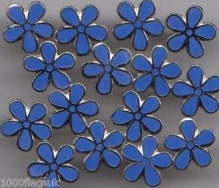 Masonic Freemasonary Free Mason Forget Me Not Flower Lapel Pin Badge