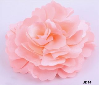 Stain Silk Peony Wedding party Corsage Hair Clip Brooch Flowers JD14