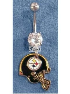 Pittsburgh Steelers Football Helmet Sports Charms Navel Belly Ring