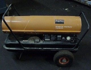 Dayton Portable Oil Fired Heater, 170 K BtuH   120v   Used