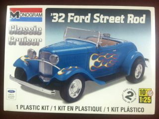 Monogram 32 Ford Street Rod 1/24 Scale Plastic Model Car Kit 85 0882
