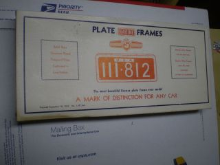 1930 40s CHEVY FORD MOPAR RAYLINE CHROME LICENSE PLATE FRAMES IN BOX