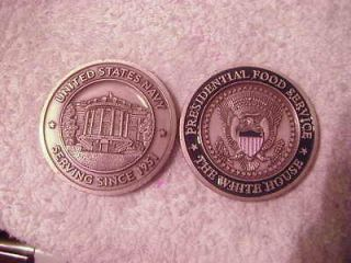 .. THE WHITE HOUSE ** PRESIDENTIAL FOOD SERVICE ** CHALLENGE COIN