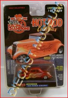 1940 40 FORD COUPE HOT ROD MAGAZINE DIECAST RACING CHAMPIONS RC RARE
