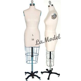 Professional Dress Form Collapsible Shoulders Size10 for Fashion
