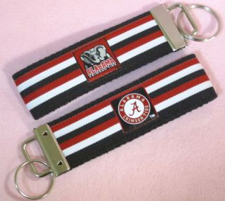 Alabama Crimson Tide College Football Wristlet Wrist Key Chain Fob