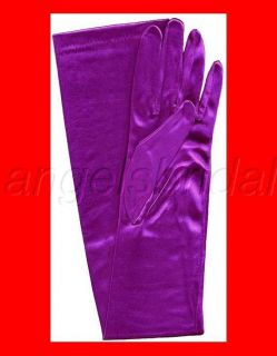 LONG STRETCH SATIN BRIDAL WEDDING PROM PARTY COSTUME OPERA GLOVES