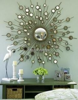 63  GOLD SUNBURST Starburst Mirror Modern Convex XL
