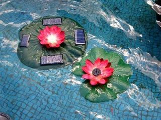 goldenlite888   Solar Power Lotus Pond Water Fountain Color LED Light