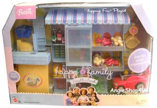 Barbie Happy Family Shopping Fun Playset Supermarket Brand New