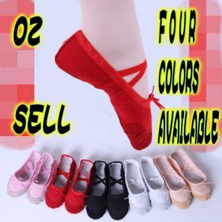 Children Girls Kids baby Ballet Dance Shoes Flat Slippers Split Sole