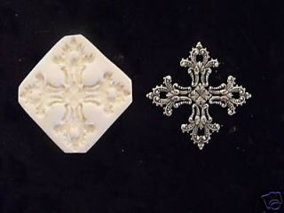 Filligree Goth Cross Clay push mold~PMC~GORGE​OUS