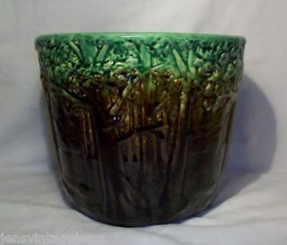 Vintage Weller Pottery Majolica Forest Jardiniere PRICE REDUCTION