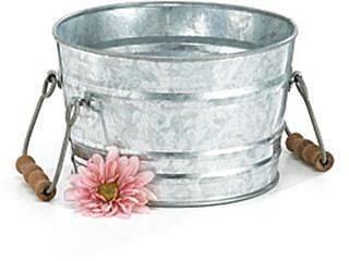 Galvanized Tin Wash Tub Planter Container Bucket Pot Cover