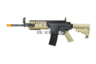 JG M4 S System Full Auto AEG Electric Airsoft Rifle Tan