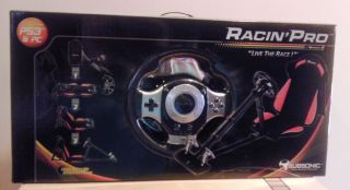 Racing Racin Pro Seat, Steering wheel and Pedals for PS3 and PC Orange