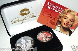 MARILYN MONROE 24Kt Gold 2 Coin Set Autographed Signed Movie Star