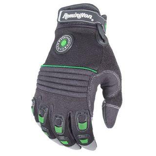 Work Gloves, Black Medium, Impact Gel Padded Palm, Terry Cloth Thumb