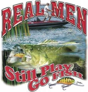 Funny Fishing T Shirt Real Men Still Play Go Fish Tee Tank Top Hoodie