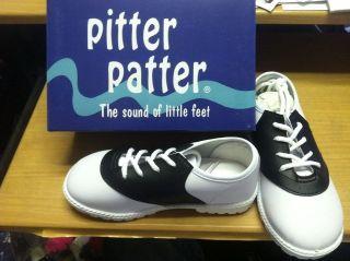 Saddle Shoe for Boys, Girls, Infants & Toddlers Black/White Sizes 1