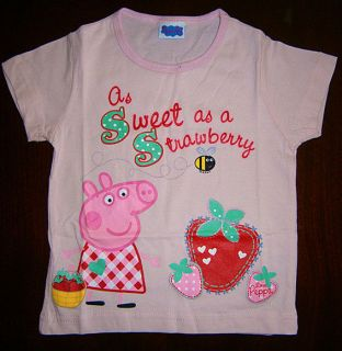 Peppa Pig Girls T Shirt Size2 3yrs 3 4yrs 4 5yrs 5 6yrs BRAND NEW