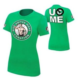 Cena Rise Above Hate Womens Authentic WWE Shirt Sz Small Ships Free