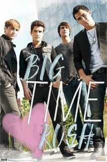 BIG TIME RUSH POSTER ~ HEART 22x34 Kendall Schmidt Logan James Carlos