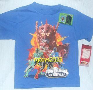 Power Rangers Samurai Glow in the Dark T Shirt Size 14 16 XL Childs
