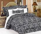 PC Safari So Soft Exotic Zebra Print Full Size Comforter Set NEW