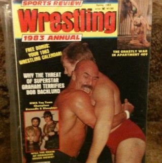 Wrestling Magazine Spr 1983 Bob Backlund Womens Apartment Girls