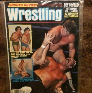 Wrestling Magazine April 1983 Bob Backlund Womens Apartment Girls