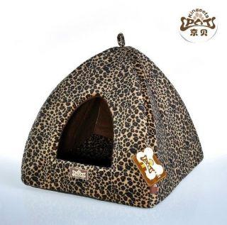 Pet Dog Cat Tent House Bed Leopard giraffe Tiger Print 3 types Small