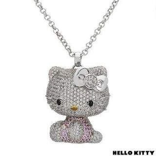 KIMORA LEE SIMMONS HELLO KITTY DOLL 18K GOLD & 925SS TOPAZ DIA SAP