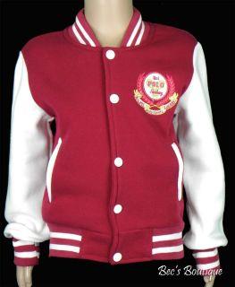 Girls Baseball Jackets College Varsity Bomber Jacket Childrens