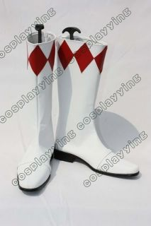Power Ranger Red Pink Costume Cosplay Shoes Boots Custom Made