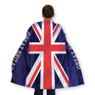 British Flag Union Jack Adults Cape Summer Games / Queens Jubilee