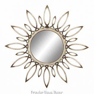 Old World Tuscan Metal Sunburst Wall Mirror