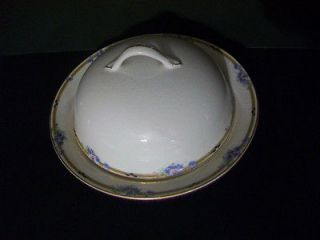 Vitreous Edwin M. Knowles Covered Butter/Cheese Dish, 1901 1909