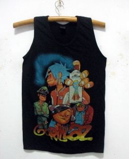 New Gorillaz singlet tank top shirt Alternative rock band tour 35 M