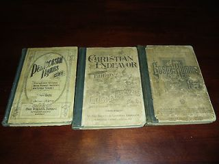 lot of 3 Antique books ~Gospel Hymns NO.5 & 6 Pentecostal Hymns No.2