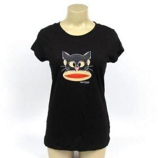 Paul Frank T Shirt Julius Monkey Black Cat Mask Graphic Printed Tee