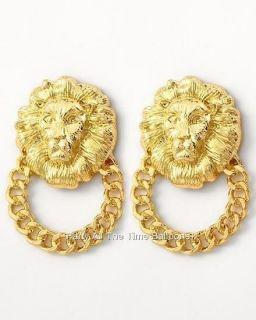 gold door knocker earrings in Jewelry & Watches
