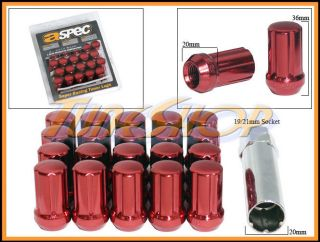 ASPEC SPLINE TUNER LOCK LUG NUTS 12X1.25 1.25 ACORN WHEELS RIMS CLOSE