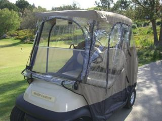 New Formosa Covers 2 Person Golf Cart Enclosure Taupe 13324