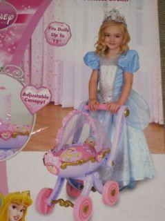 NEW Disney Princess Stroller Baby Doll Buggy Cart pink