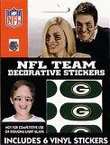 Green Bay Packers NFL Football Vinyl Face Decorations   6 Stickers